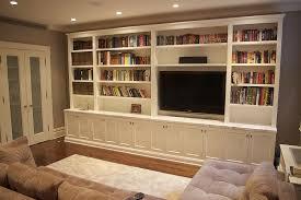 custom living room media unit by codfish park design llc