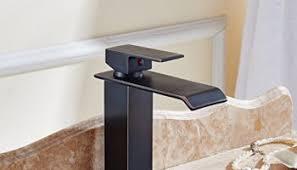 Oil Rubbed Bronze Vessel Sink Faucet Votamuta Oil Rubbed Bronze Led Colors Waterfall Spout Bathroom