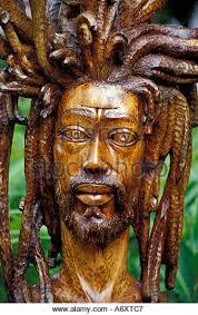 jamaican wood sculptures portrait rastafarian jamaica stock photos portrait
