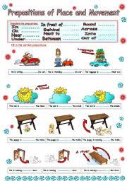 english teaching worksheets prepositions of movement