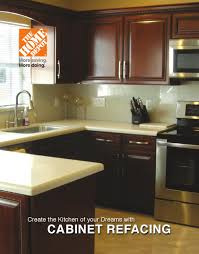kitchen cabinet refacing at home depot the home depot cabinet refacing brochure by us remodelers