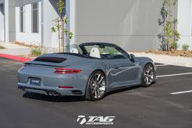 porsche graphite blue gt3 a graphite blue drop top beauty 991 2 cab techart hre tag