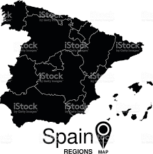 Spain Regions Map by Regions Map Of Spain Spain Stock Vector Art 490244878 Istock