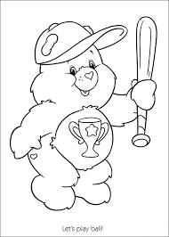 care bears play baseball coloring