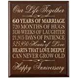 60th wedding anniversary poems 60th wedding anniversary cherry wood wall cross gift