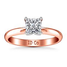 solitaire princess cut engagement rings solitaire princess cut engagement ring comfort fit 14k gold