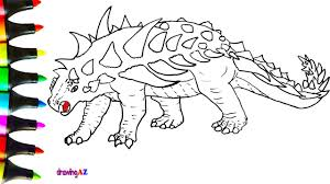 panoplosaurus dinosaur jurassic world coloring pages for kids how