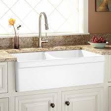 Sinks Glamorous Fireclay Apron Sink Fireclayapronsinkfireclay - Farmhouse double bowl kitchen sink