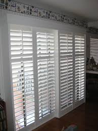 Plantation Shutters On Sliding Patio Doors Sliding Plantation Shutters Patio Door Home Design Ideas