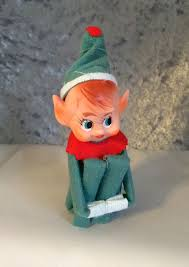 vintage shelf sitter knee hugger pixie ornament in x