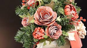 Centerpieces Christmas - how to make paper flowers for a christmas centerpiece youtube