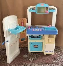 Play Kitchen Sink by Playskool Vintage Folding Play Kitchen Lot Sink Stove Microwave