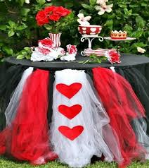 black tulle table skirt tutu with heart table skirting black and white diy wedding