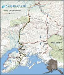 Alaska Rivers Map by Alaska Railroad Map Alaska Train Maps Alaskatrain Com