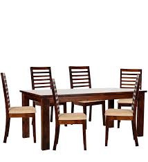 Six Seater Dining Table And Chairs Sao Paulo Six Seater Dining Table Set In Provincial Teak Finish By