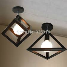 Edison Ceiling Light Blueking Vintage Industrial Ceiling Lights Loft Metal Geometry