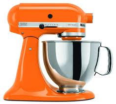 kitchen aid tangerine orange artisan stand mixer
