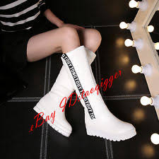 womens wedge boots size 9 mid calf wedge boots size 9 ebay