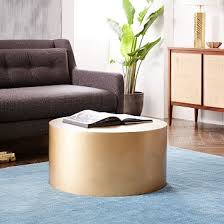Metal Side Tables For Living Room West Elm Metal Drum Coffee Table Probably Need A Table For