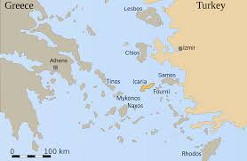 Greece On A Map A Blue Zone U2013 Or A Red One Esin