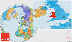 where is wales on the map political location map of wales