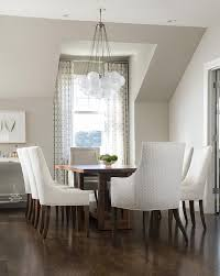 Upholstered Chairs Dining Room Coffee Stained Dining Table With White Upholstered Dining Chairs