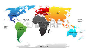 asia map with labels world map with highlighted continents in different colors all
