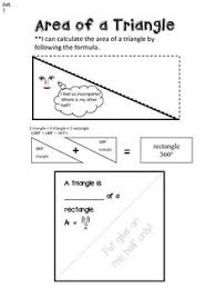 area of a triangle worksheet google search algebra pinterest
