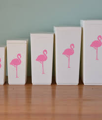 funky kitchen canisters vintage kitchen canisters capri white flamingos no 4wtpl funky