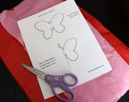 pattern making tissue paper tissue paper butterflies free template karen cookie jar