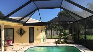 pool screen enclosure rescreen and repaint project in boca raton