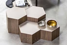 Hexagon Side Table Six End Table By Bross Room Service 360