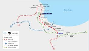 Gold Line Metro Map by Algiers Metro Map Algeria