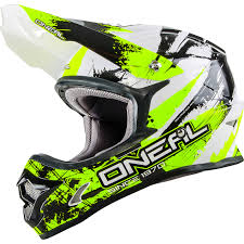 flat black motocross helmet oneal 3 series shocker black neon yellow motocross helmet quad mx