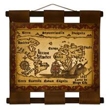 leather map made original leather vintage style map wall hanging mapa