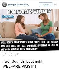 Young Mom Meme - young conservative follow mom whats welfare bernie 2016 well honey