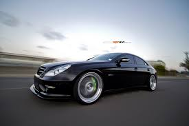 lowered amg c219 w219 cls63 amg lowered on 21 inch adv track speck wheels