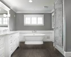 Love The Contrast Of Dark Hand Scraped Floors With White Marble