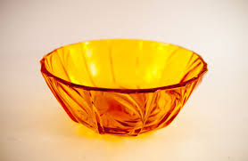 glass bowl amber glass bowl decorative bowl centerpiece