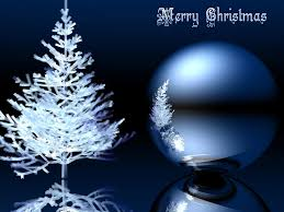 blue merry christmas tree free ppt backgrounds powerpoint