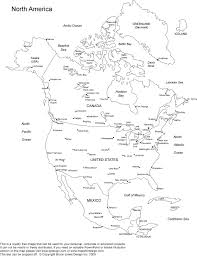 50 States Map Blank by Free Printable Blank North America Map