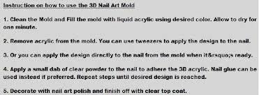 3d mold acrylic rectangle mould for nail art buy 3d mold acrylic