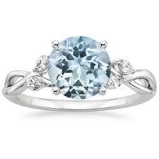 aquamarine wedding rings alternative engagement rings brilliant earth