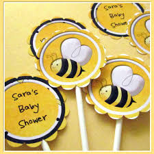 photo bumblebee baby shower decor image