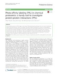 photo affinity labeling pal in chemical proteomics a handy tool