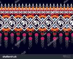 geometric ethnic oriental pattern traditional design stock vector