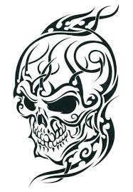 black tribal skull temporary tattoos 2 5 x 3 5 tmi http