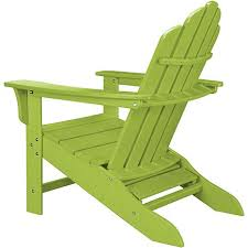 Adarondak Chairs All Weather Contoured Adirondack Chair With Hideaway Ottoman