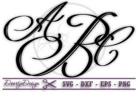 monogramed letters monogram letters vine monogram font sv design bundles