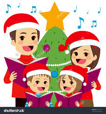 clipart christmas trees singing christmas carols clipground
